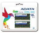 ADATA PC3L-12800 DDR3L-1600 8GB 2枚組 SODIMM ノートPC用 省電力 メモリーモジュール ADDS1600W8G11-2 永久保証