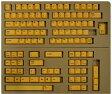 【東プレ】 REALFORCE104/87配列 交換用カラーキートップフルセット(黄色) XF0100-KT4