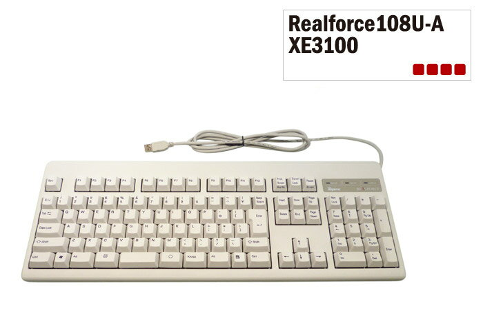 [東プレ] 送料無料 即納です!(パッケージ不良)Realforce108U-A アーキサイトオリジナル 日本語108配列 白モデル フルキーボード 昇華印刷 荷重30g DIP付 XE3100