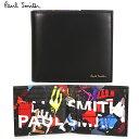 【PaulSmith】ポールスミス メンズ 二つ折り財布 財布 ブラック×サイクルグローブ メンズ M1A 4833 A40173 25