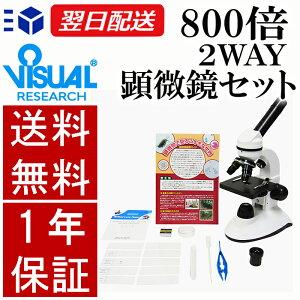 【クーポンあり】新日本通商 学習用 2Way 顕微鏡 800L