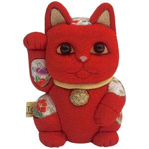 【クーポンあり】柿沼東光 招き猫 小 風水 赤 | 伝統