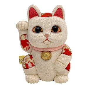 【クーポンあり】柿沼東光 招き猫 小 風水 白 | 伝統