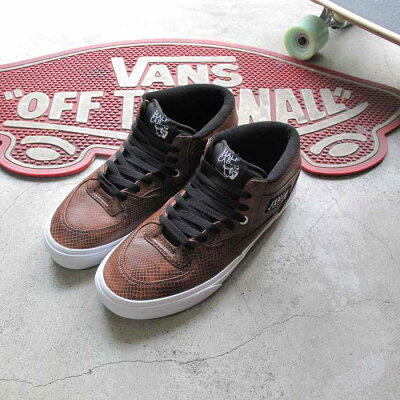 �Х󥺥����󥺥��ˡ������ϡ��ե����(���͡����˥֥�å�/�֥饦��Vans���ˡ�����HALFCAB(SNAKE)BLACK/BROWN�������б�