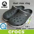 クロックス デュエット マックス クロッグ crocs duet max clog 201398 (3J8)Dusty olive / stucco サンダル 軽量 クロッグ レディース ウィメンズ メンズ ユニセックス