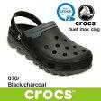 クロックス デュエット マックス クロッグ crocs duet max clog 201398 (070)Black / Charcoal サンダル 軽量 クロッグ レディース ウィメンズ メンズ ユニセックス