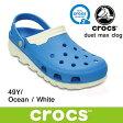 クロックス デュエット マックス クロッグ crocs duet max clog 201398 (49Y)Ocean / White サンダル 軽量 クロッグ レディース ウィメンズ メンズ ユニセックス