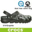 クロックス デュエット マックス カモ クロッグ  CROCS duet max camo clog 202648 (014)Graphite サンダル 軽量 クロッグ レディース ウィメンズ メンズ ユニセックス