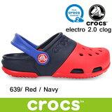 クロックス あす楽対応 エレクトロ 2.0 クロッグ キッズ crocs electro 2.0 clog kid's 15608 (639)Red / Navy サンダル 軽量 子供