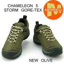 メレル 先着ノベルティー付き カメレオン 5 ストームゴアテックス M575501 NEW OLIVE Merrell CHAMELEON 5 STORM GORE-TEX メンズ アウトドア ゴアテックス スニーカー