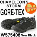 メレル ウィメンズ カメレオン 5 ストームゴアテックス W575408 NEW BLACK Merrell CHAMELEON 5 STORM GORE-TEX レディース ウィメンズ アウトドア ゴアテックス スニーカー