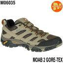 Merrell MOAB 2 GORE-TEX M06035 Walnut メレル モアブ 2 ゴアテックス メンズ アウトドア ゴアテックス スニーカー 防水 幅2E相当