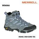 Merrell W06066 MOAB 2 MID GORE-TEX Grey/Periwinkle メレル ウィメンズ モアブ 2 ミッド ゴアテックス レディース アウトドア ゴアテ..