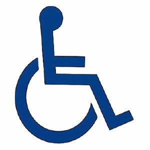 新協和 サイン(平付型)身障者マーク 青 200×200×20 ※メーカー直送品 SK-ACS-2F-S-9A