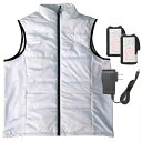 ショッピング充電式 速暖 ヒートベストEXW (Lサイズ) 白色 取寄品 プロモート PHBEXW/L (防寒 ヒートベスト 冬用ベスト 充電式 遠赤外線)