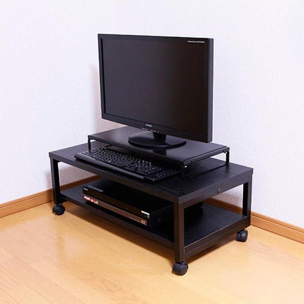 【オール黒モデル 1段タイプ】TV モニタースタンド 低価格スチール製モニタースタンド オール黒モデル 1段タイプ SS585-BB1(ネコポス便不可)