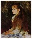 【送料無料】複製名画油絵 ルノワール作「イレーヌ・カーン・ダンヴェール嬢」額付き 絵画サイズ: 40x50 cm