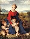 【送料無料】複製名画油絵 ラファエロ作「牧場の聖母」額付き 絵画サイズ: 40x50 cm