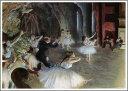 Art - 【送料無料】複製名画油絵 ドガ作「舞台のバレエ稽古 」額付き 絵画サイズ: 50x60 cm