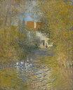 【送料無料】複製名画油絵 モネ作「小川のガチョウ」 額付き 絵画サイズ: 50x60 cm