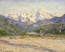 【送料無料】複製名画油絵 モネ作「ネルビの渓谷」  額付き 絵画サイズ: 50x60 cm