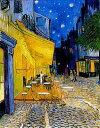 【送料無料】複製名画油絵 ゴッホ作「夜のカフェテラス」 額装無し 絵画サイズ: 30x40 cm