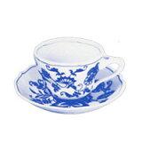 蓝色Danube 25/4 茶杯?茶托[ブルーダニューブ 25/4 ティーカップ・ソーサー【/2 10時まで】]