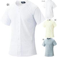 アシックス asics 野球 ウェア BAS010 スクールゲーム シャツ ユニフォーム 半袖 シャツ 吸汗速乾 軽量の画像