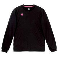 デサント DESCENTE バレーゲームシャツ パンツワンポイント 長袖 プラクティスシャツ ウィメンズ DVB-5216WDVB5216Wブラック ピンクの画像