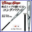 ミズノ MIZUNO 野球 バット 2TR43330 軟式用 ビクトリーステージ Vコング02 金属製 83cm 平均740g ミドルバランス
