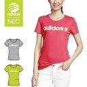 ☆【あす楽】adidas (アディダス) Tシャツ 半袖 シンプルロゴ トップス NEO アディダスネオ GYS12【レディース】