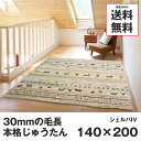 ホットカーペットカバー 1.5畳 じゅうたん ラグ カーペット 140×200 アイボリー ネイティブ シェルパ 冬用
