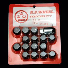 ★RSワタナベ 専用ナット ブラック 16個SET ステンレス M12 × P1.25