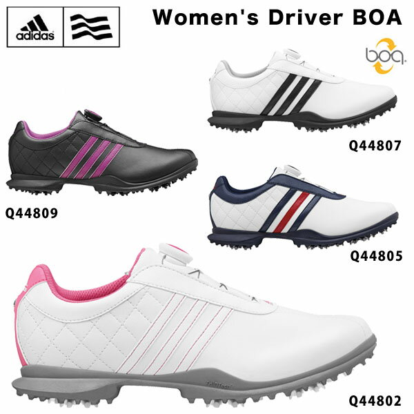アディダス レディス Driver BOA (ウィメンズ ドライバー ボア) ソフトスパイク ゴルフ シューズ 【あす楽対応】 [2015年モデル] [有賀園ゴルフ]