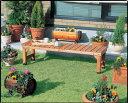 ベンチ BN-1500 送料無料 即時発送 木製ベンチ ガーデンチェア ガーデンベンチ 庭 ベランダ テラス アイリスオーヤマ アイリス