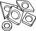 【サンドビック】サンドビック シム R170.5851サンドビック パーツ切削工具旋削・フライス加工工具ホルダー【TN】【TC】