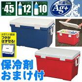 【クーラーボックス 大型】保冷剤 大容量 保冷 収納 釣り ペットボトル アイリスオーヤマ レッド ブルー CL-45
