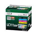 【インク ブラザー】【014050】 ブラザー純正 LC111-4PK対応 汎用インクCINK-B111-4P【インクジェット】 CINK-B111-4P【D】【OHM】 P01Jul16