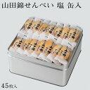 【送料無料】山田錦せんべい缶入 45枚 塩