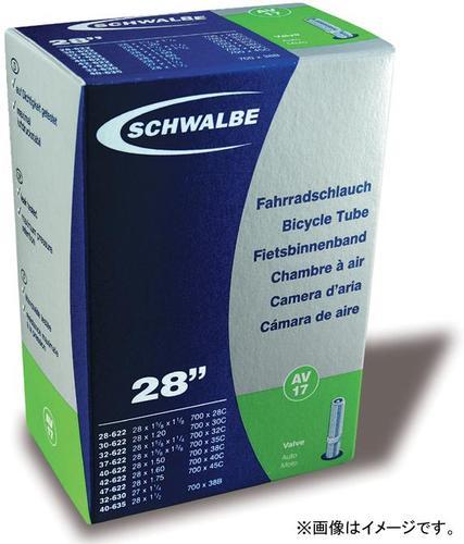 SCHWALBE 17AV 米式 700×28C-45C チューブ 自転車