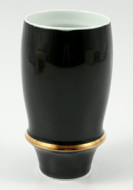 【オリジナル名入れ】 有田焼 匠の蔵 エンゼルリング(黒) プレミアムビアグラス