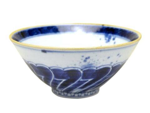 【有田焼】染付花弁 平麺鉢