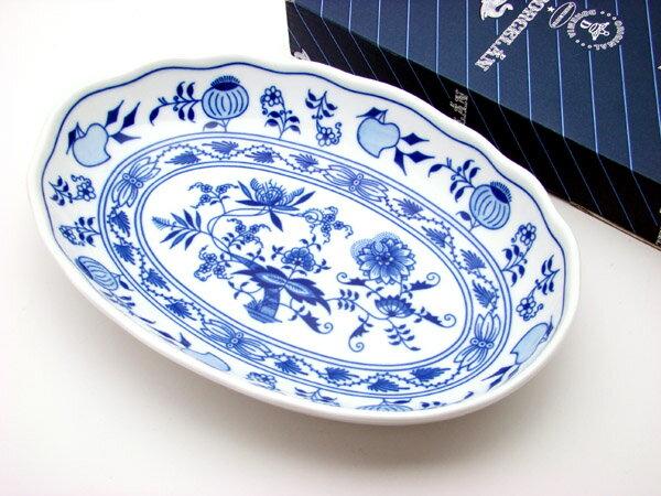 カールスバード ブルーオニオン カレー皿23cm CB374