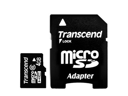 【容量4GB】microSDHCカード(class 6)
