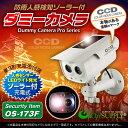 【あす楽】人感センサー 明暗センサー ソーラーバッテリー付 防雨タイプ ダミーカメラ「OS-173F」【10P01Oct16】