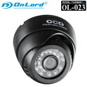 【OnLord(オンロード)】 赤外線LEDライト ドーム型 防犯カメラ MicroSDカード録画「OL-023」