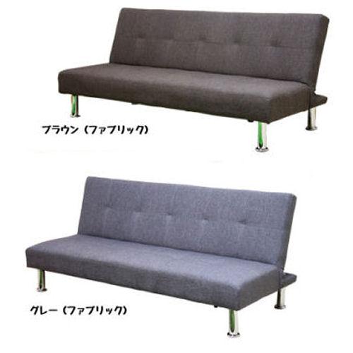 【送料無料】【布張りでシンプルなデザイン】【リクライニング3段ギヤ式ソファベット人気商品1】