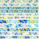 ウォーターネイルシール 【DS-489】 【メール便可】ネイルステッカー 花柄 ボタニカル ライン フラワー 春