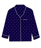 ■【予約商品 11月以降入荷予定】SLEEPY JONES [スリーピージョーンズ] / silk marina pajama shirt (スリーピージョーンズ パジャマ パンツ ルームウェア) WT001-F1238-410【DEA】