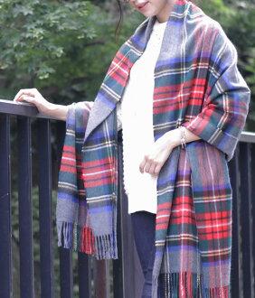 Johnstons [埃爾金,johnstons 和羊絨格子披肩 190 × 70 灰色斯圖爾特-(另一種日本注意顏色的埃爾金 2016年圍巾 johnstons 偷了披肩羊絨大女士檢查) WA000056-VU6124-體育館